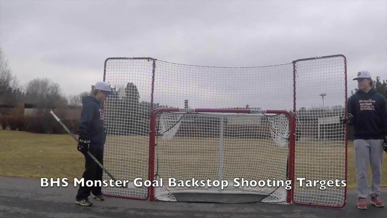 Extreme Monster Hockey Goal Backstop Targets