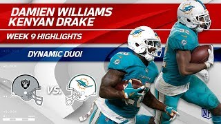 Drake & Williams Get 165 Yards on First Game w/out Ajayi!   Raiders vs. Dolphins   Wk 9 Player HLs