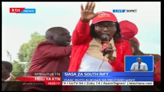 Wild crowd stops Jubilee politicians from making speeches during their campaign in South Rift