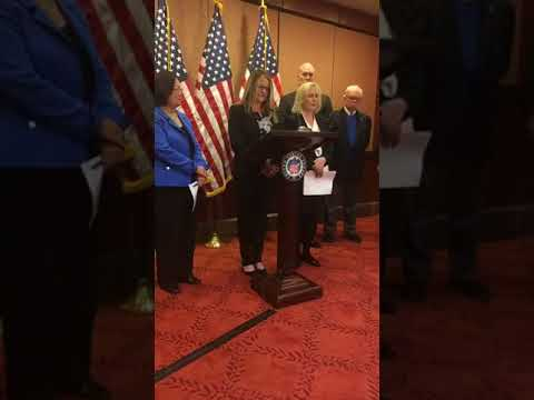Senator Gillibrand and Adrian Perry speech on Capitol Hill for the Military Justice Improvement Act