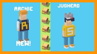 UNLOCK ☆ Jughead ☆ with ✪ Archie ✪ his friend. Crossy Road NEW Mystery Character - Update