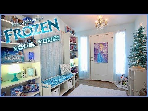 """A Sparkly """"FROZEN"""" Room Tour!"""