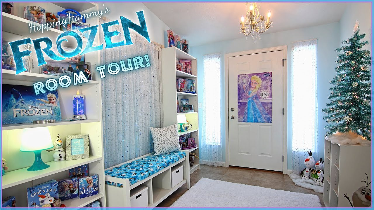 A Sparkly FROZEN Room Tour