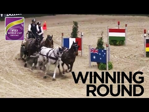 Boyd Exell's Winning Round in Stuttgart | FEI World Cup Driving 2017/18