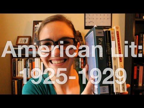 American Literature | 1925 - 1929
