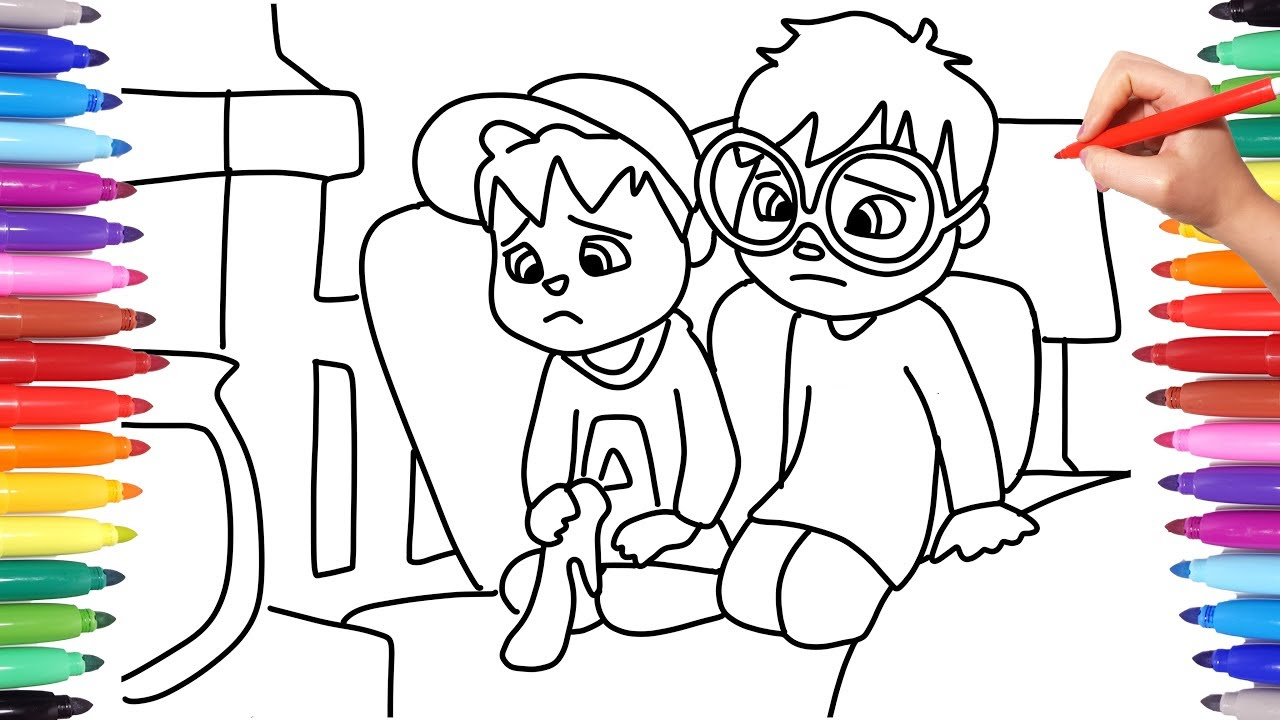 - ALVINNN AND THE CHIPMUNKS // COLORING ALVIN AND THEO / HOW TO DRAW
