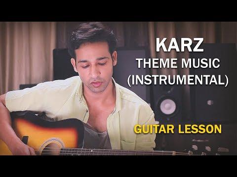 KARZ THEME MUSIC (Instrumental) GUITAR LESSON BY VEER KUMAR (HINDI)