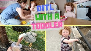 DITL || PET FARM VISIT || SUMMER FUN WITH MY TODDLER || LAZY AFTERNOON