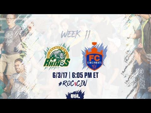 USL LIVE - Rochester Rhinos vs FC Cincinnati 6/3/17
