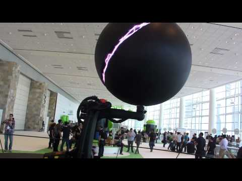 Eyes-on with the giant Nexus Q robot at Google I/O