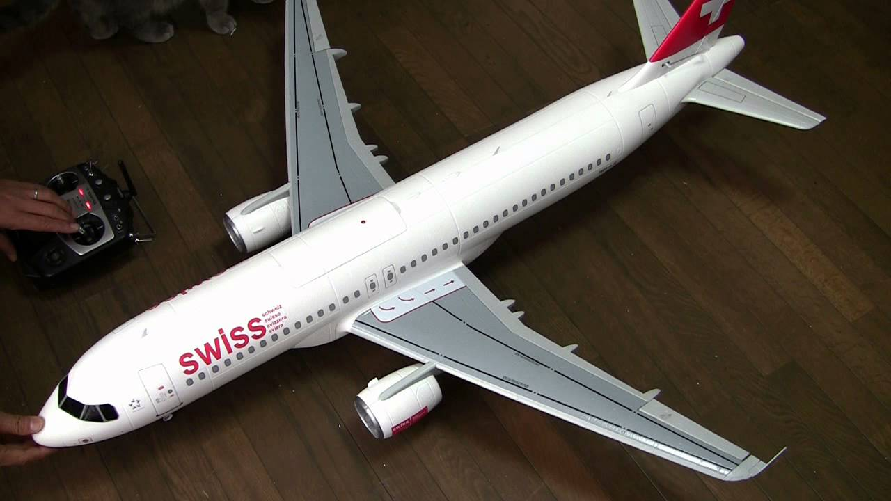 Supreme Hobbies A320 ( Swiss Air ) Retracts & EDF Test 2 - YouTube