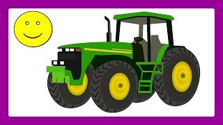 Tractors For Children Dozer Kid Trax Bulldozer Excavator Dump Truck Backhoe by JeannetChannel