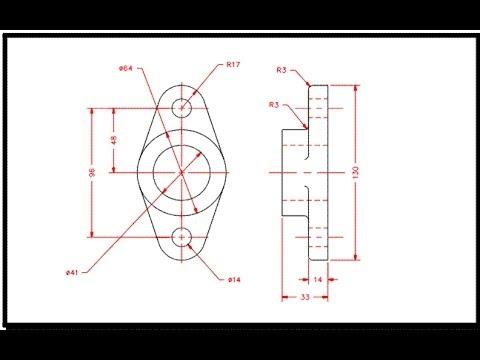 Exercice de dessin autocad 2 youtube - Exercice dessin industriel coupe et section ...