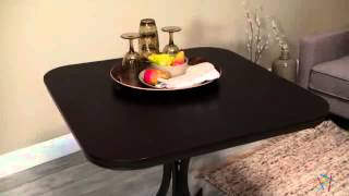 Innobella Destiny 38 In. Square Wood Folding Table - Chocolotto - Product Review Video