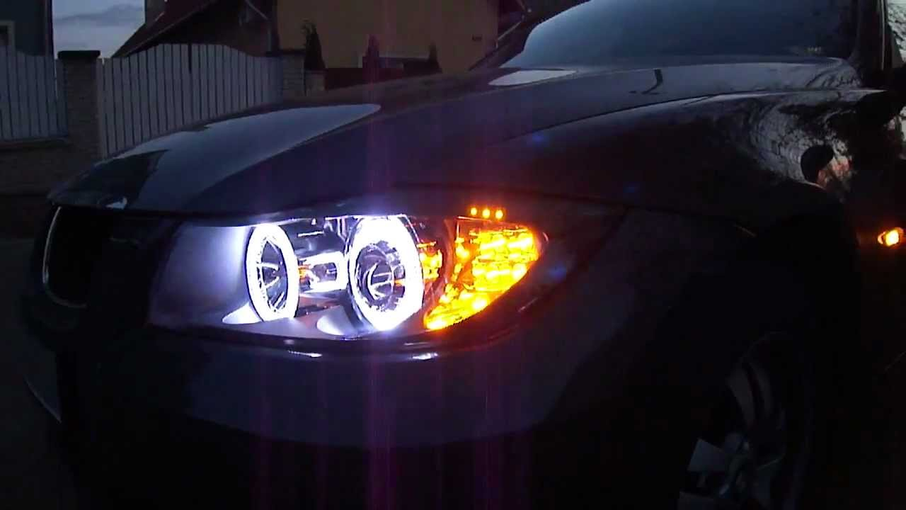 Bmw E90 E91 Projector Headlight 240 Led Angel Eye Led