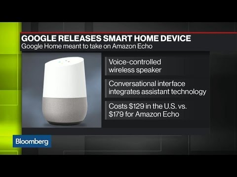 is google 39 s new smart home device a threat to amazon youtube. Black Bedroom Furniture Sets. Home Design Ideas