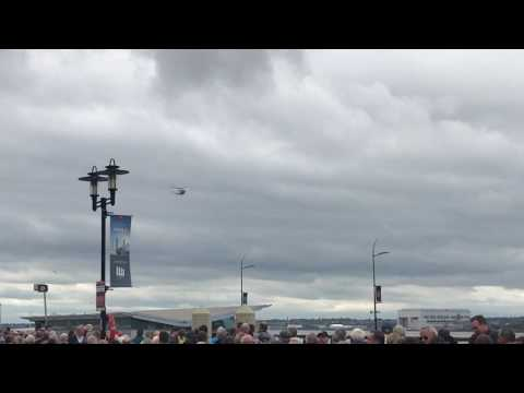 Uk armed forces day Liverpool - helicopter flyby