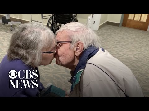 Couple reunites after months apart due to coronavirus restrictions