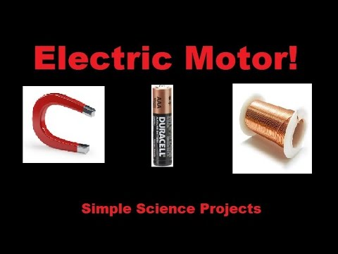 how to make a simple electric motor youtube