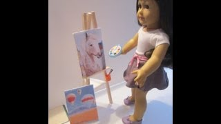 How To Make American Girl Saige's Art Easel