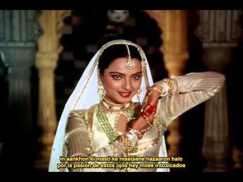 In Aankhon Ki Masti, Umrao Jaan (1981),  Subtitulado En Español E Hindi.