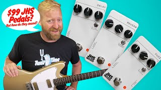 """$99 JHS Pedals? Three pedals from the """"3 Series"""" - Fuzz / Reverb / Delay"""