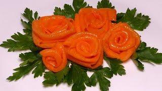 Красивое украшение/Розочки из моркови