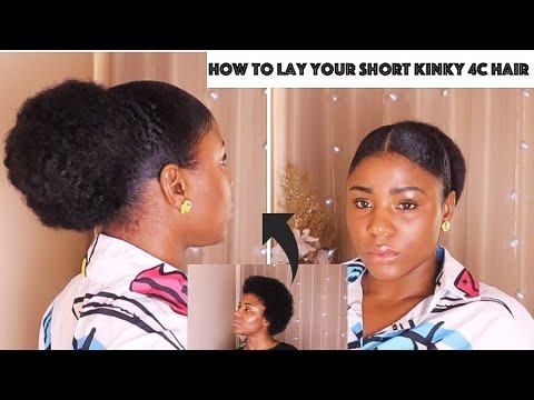 SLEEK BUN ON SHORT 4C NATURAL HAIR | Natural hairstyles ...