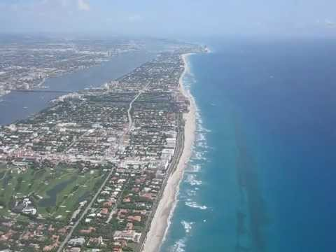West Palm Beach Florida PBI Airport Taking off from PBI
