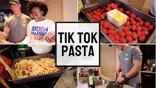 Trying TIKTOK PASTA!     cook with us -viral tomato feta pasta  Interracial Couple