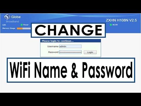 How to Change Globe Broadband ZTE ZXHN H108N Wi-Fi Name and