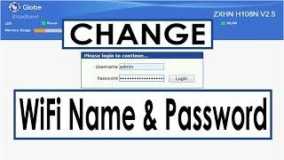 How To Change Wifi Password Zte