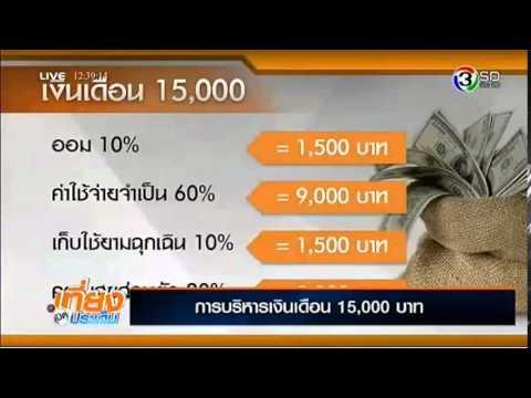 """A life Plan แนะนำ """"การบริหารเงินเดือน 15,000 บาทอย่างไรให้เพียงพอและมีเงินเหลือเก็บ ทางช่อง3SD"""