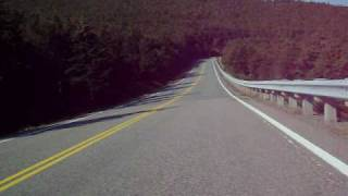 Cabot Trail cycling - the descent down MacKenzie Mountain