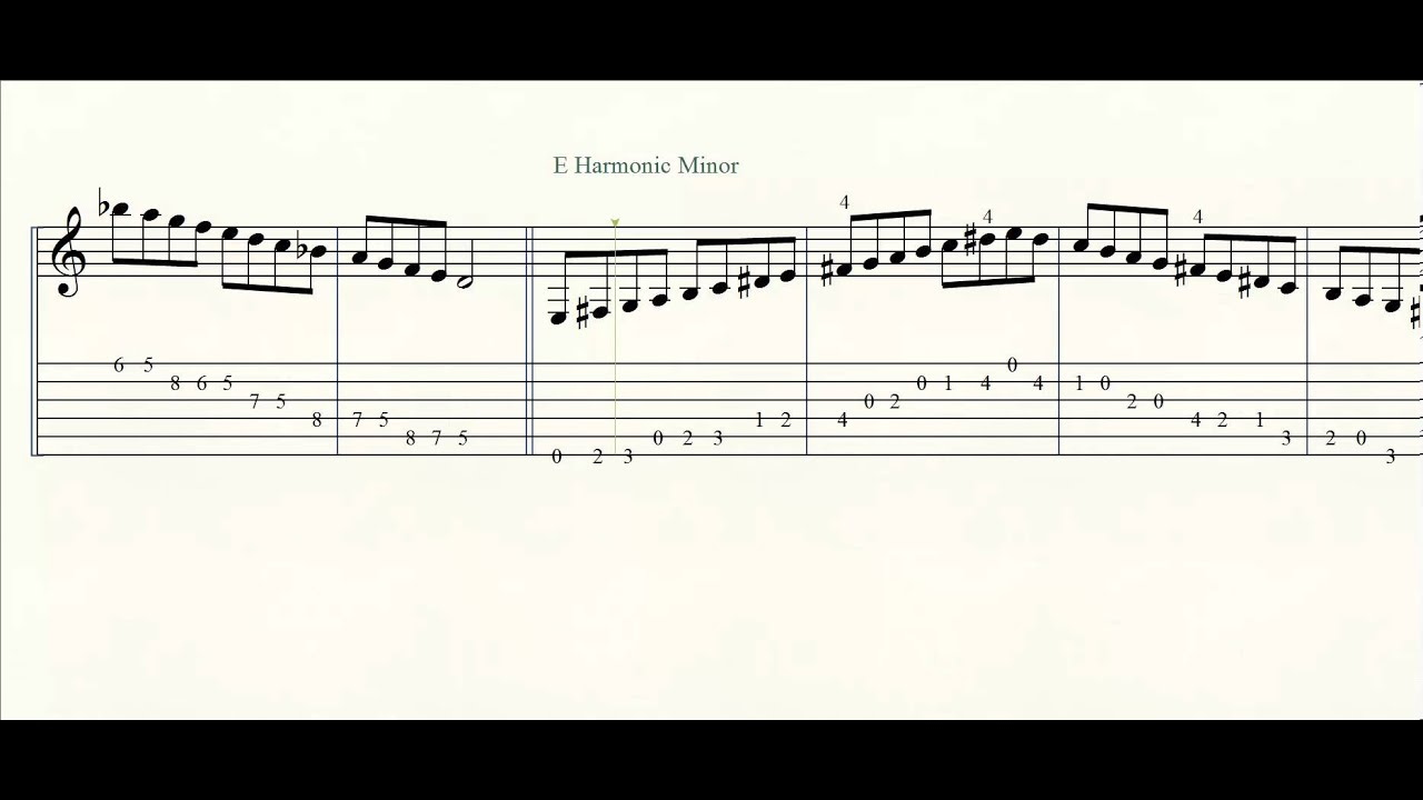 classical guitar scales tabs pdf