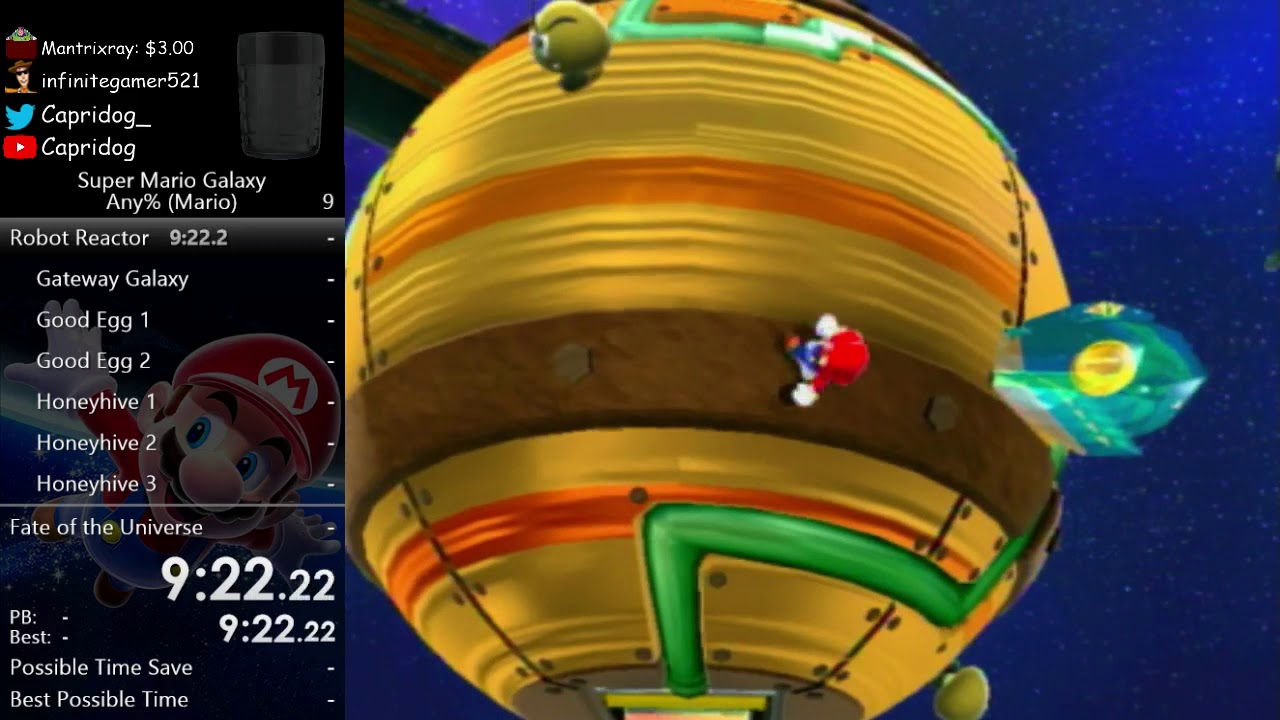 Super Mario Galaxy Any% in 4:32:47