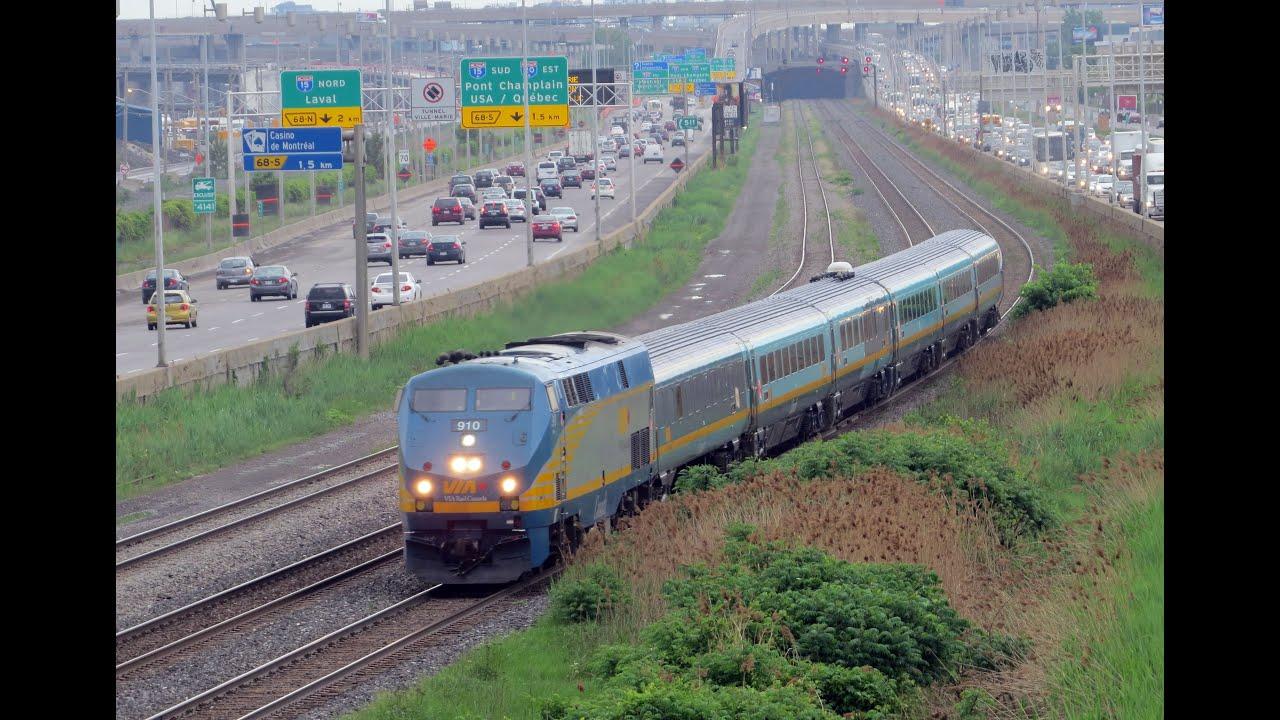 Via Rail New Color Train In Angrignon Montreal Youtube
