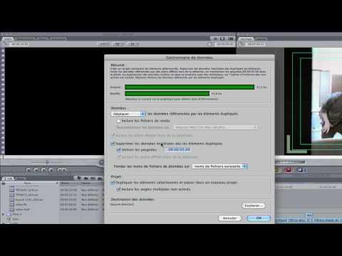 Final Cut : gestion des données à la fin d'un montage
