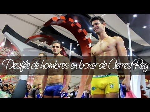 Desfile hombres en boxer de Cierres Rey en el Perú Moda 2014 | Unicas.pe