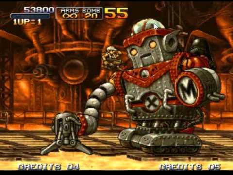 Metal Slug 3 - Mission 1~3 Boss Rush feat. Iron Lizard |