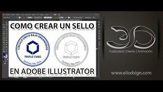 3-Tutorial Adobe Illustrator Sello