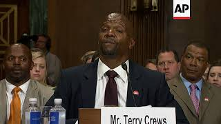 Terry Crews testifies beḟore Senate on sexual assault, says 'Expendables' producer threatened 'troub
