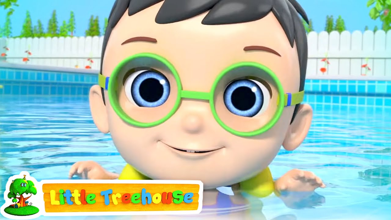 Swimming Song | Bath Tub Time + More Little Treehouse Nursery Rhymes & Kids Cartoon | Baby Songs
