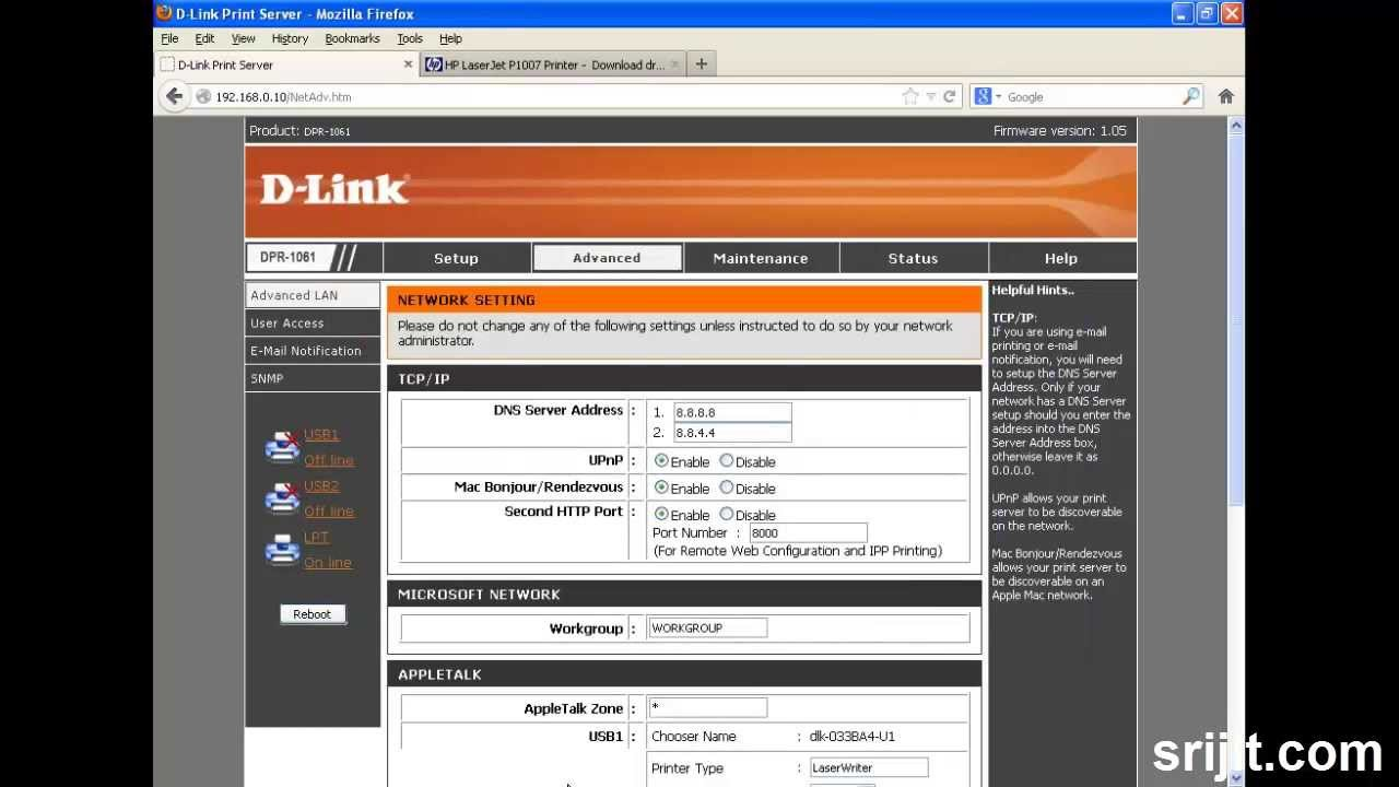 D-LINK PRINT SERVER DPR-1061 DRIVER