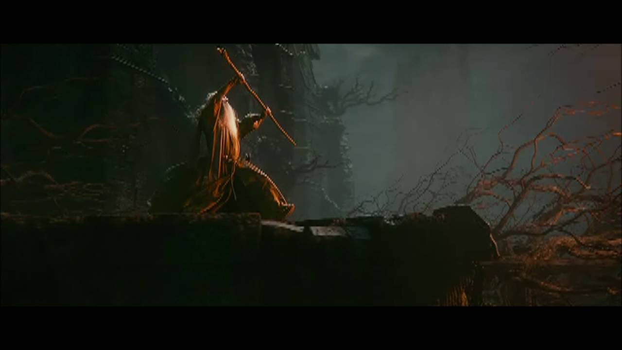 Fight between Gandalf and Sauron - The Hobbit: Desolation of Smaug