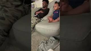 You won't want to miss this adorable moment of a father and his toddler having a full-fledged conversation about what they're watching on TV. #ABCNews ...