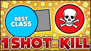 BEST CLASS FOR MAX DAMAGE & INSANE GAMEPLAY - ONE SHOT = ONE KILL DESTROYER (DIEPIO / DIEP.IO #7)