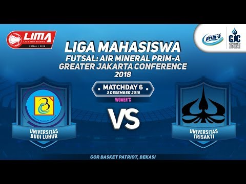"UBL VS USAKTI WOMEN""S LIMA FUTSAL : AIR PRIM-A GREATER JAKARTA CONFERENCE 2018"