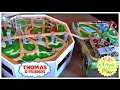 Thomas the Train Wooden Railway Double Play Table Playtime! | Playing with Thomas and Friends Trains