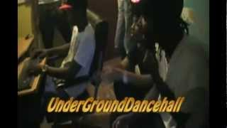 3 STAR AND CHASE CROSS VYBING NEW SONG IN THE STUDIO - MARCH 2012 *Undergrounddancehall*